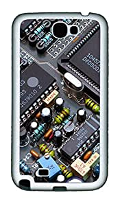 Samsung Note 2 Case Circuit Board TPU Custom Samsung Note 2 Case Cover White