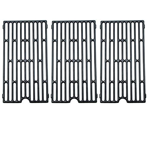 Direct Store Parts DC105 (3-Pack) Polished Porcelain Coated Cast Iron Cooking Grid Replacement Vermont Castings, Chargriller, Jenn Air Gas Grill (3) (Renewed) ()