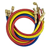 """Wisepick AC Charging Hoses Tube R12 R22 R134 Air Conditioning Refrigerant 1/4"""" Thread Hose 5ft"""