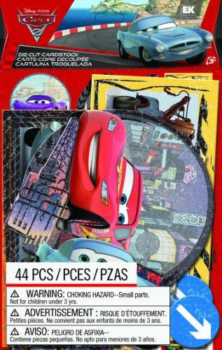 EK Success Brands Disney Die-Cut Cardstock, Cars 2 (Phrase Scrapbook Cut Die)