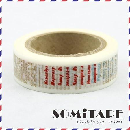 ruban décoratif Craft Texte journal vintage style washi bande