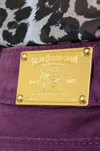 True Religion Vaqueros Skinny HALLE SUPER SKINNY L Púrpura Oscuro