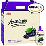 Chunho Food Aronia 100, Contains 100% Aronia Juice. Protects, Helps Against Stress and Fatigue, While Enhancing Immunity and Generating Energy. No Preservatives and Artificial Additives. [60 Pack]