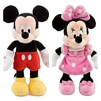 Disney MICKEY MOUSE e MINNIE Peluche Pequeño Set 20cm La Casa de Mickey Mouse