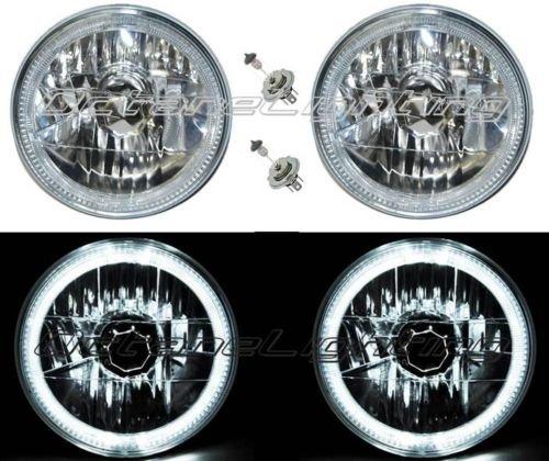 OCTANE LIGHTING 55 56 57 Chevy Halogen White Led Halo Headlight Headlamp H4 Light Bulbs 7