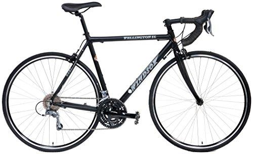 Quality Windsor Wellington SL 24 Speed Shimano Equipped Carbon Fork Road Bike (Matt Black, 56cm fits most cyclist 5'9