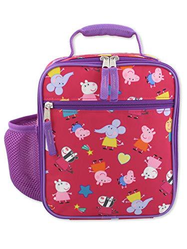 Nick Jr. Peppa Pig Girls Soft Insulated School Lunch Box