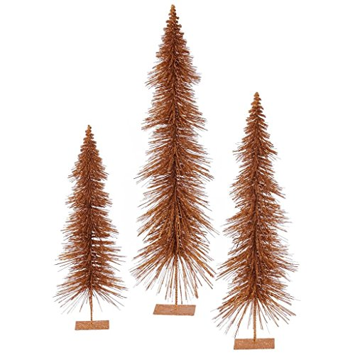 (Vickerman Unlit Glitter Layered Tree Set, 24 by 30 by 36-Inch, Copper)