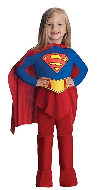 Amazon.com: DELUXE Supergirl Costume   Girls Superhero Costumes (1 2 Years  With Bracelet For Mom): Clothing