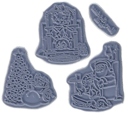 Art Impressions Try'folds Cling Rubber Stamp, 9 by 4.5-Inch, Sleepy Santa by Art Impressions