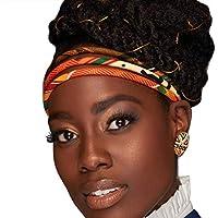 Kente 3 Strand Headband | Orange Kente | Headband | African Hair Band | Bohemian Headwrap | Afrocentric | Tribal headband | Kente Headwrap | Cloth & Cord