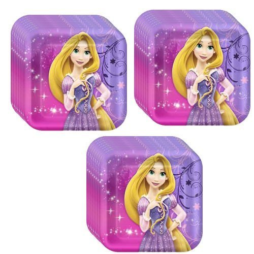 Disney Tangled Sparkle Party Cake/Dessert Plates - 24 Guests
