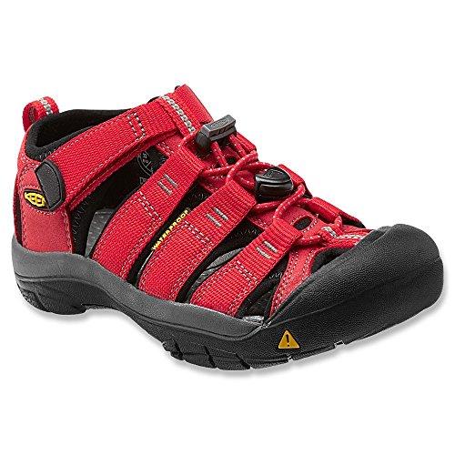 KEEN Little Kid (4-8 Years) Newport H2 Ribbon Red/Gargoyle Sandal - 12 M US Little Kid