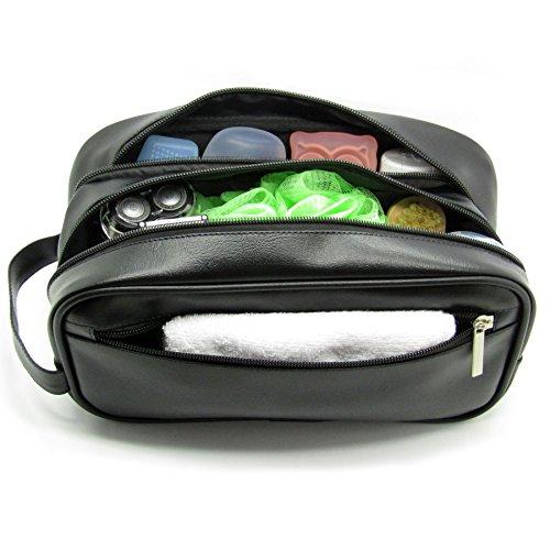Mister Bag Leather Travel Toiletry Bag For Men Or Women