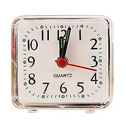 Birdfly Bed Quartz Beep Alarm Clock Unzerbrechlich for Student Adult Wake Up (5.8x5.5cm, White)