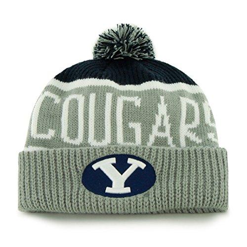 Brigham Young Byu Cougars Football (BRIGHAM YOUNG COUGARS BYU NAVY CALGARY CUFF KNIT KNIT CUFF W/POM)