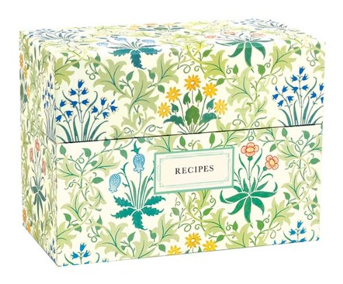Victoria & Albert Museum William Morris Recipe Box (File Recipe)