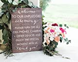 Unplugged Wedding Sign Unplugged Ceremony Sign Welcome to our Unplugged wedding Wooden Wedding Signs Wood Weddings Signs Wedding Signs 1212