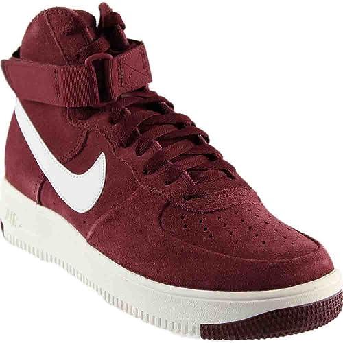 Nike Air Force 1 Ultraforce High Men's Shoes Dark Team Red/Summit White  880854-