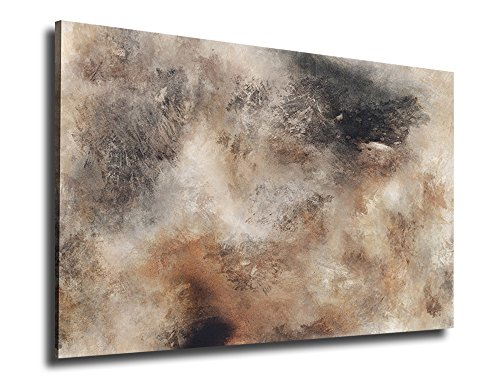 Canvas Art Rustic Abstract Painting Prints on Canvas Wall Art Large Contemporary Pictures Sepia Abstract Painting Modern Artwork Rustic Canvas Prints for Home (Sepia Photo Art)