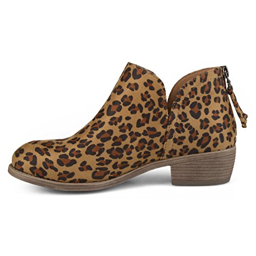 Brinley Co Layla Boot Leopard Women's Ankle xqPqnfpYwr