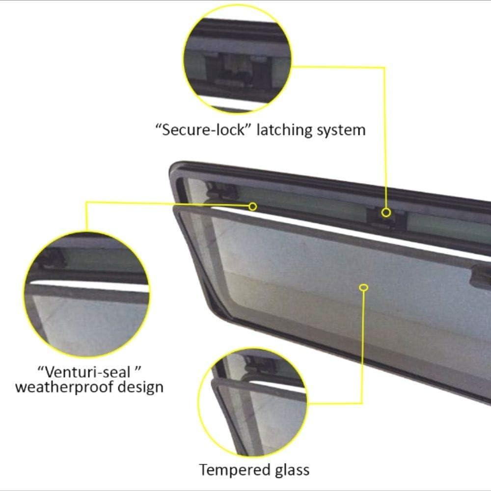 Removable Window for Trucks Chevy Silverado 1999-2013 Breezer Window 0/% Tint, Black Frame