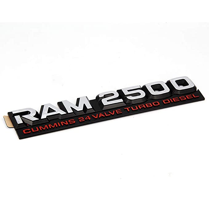 Kimoo DR-2524 2X RAM 2500 CUMMINS 24 VALVE TURBO DIESEL FENER SIDE DOOR TAILGATE EMBLEM NAMEPLATE BADGE