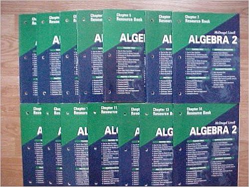 Package Of 14 McDougal Littell Algebra 2 Chapter Resource