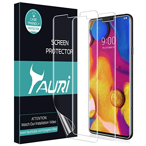 Evolution Screen - TAURI Screen Protector for LG V40 ThinQ, [3-Pack] Full Coverage Liquid Skin Screen Protector Case-Friendly Anti-Bubble HD Clear Flexible Film, Lifetime Replacement Warranty