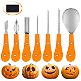 Pumpkin Carving Kit 8 Piece Stainless SteelProfessional Pumpkin Carving Cutting Supplies Stencil Tools with Carrying Case For Sale