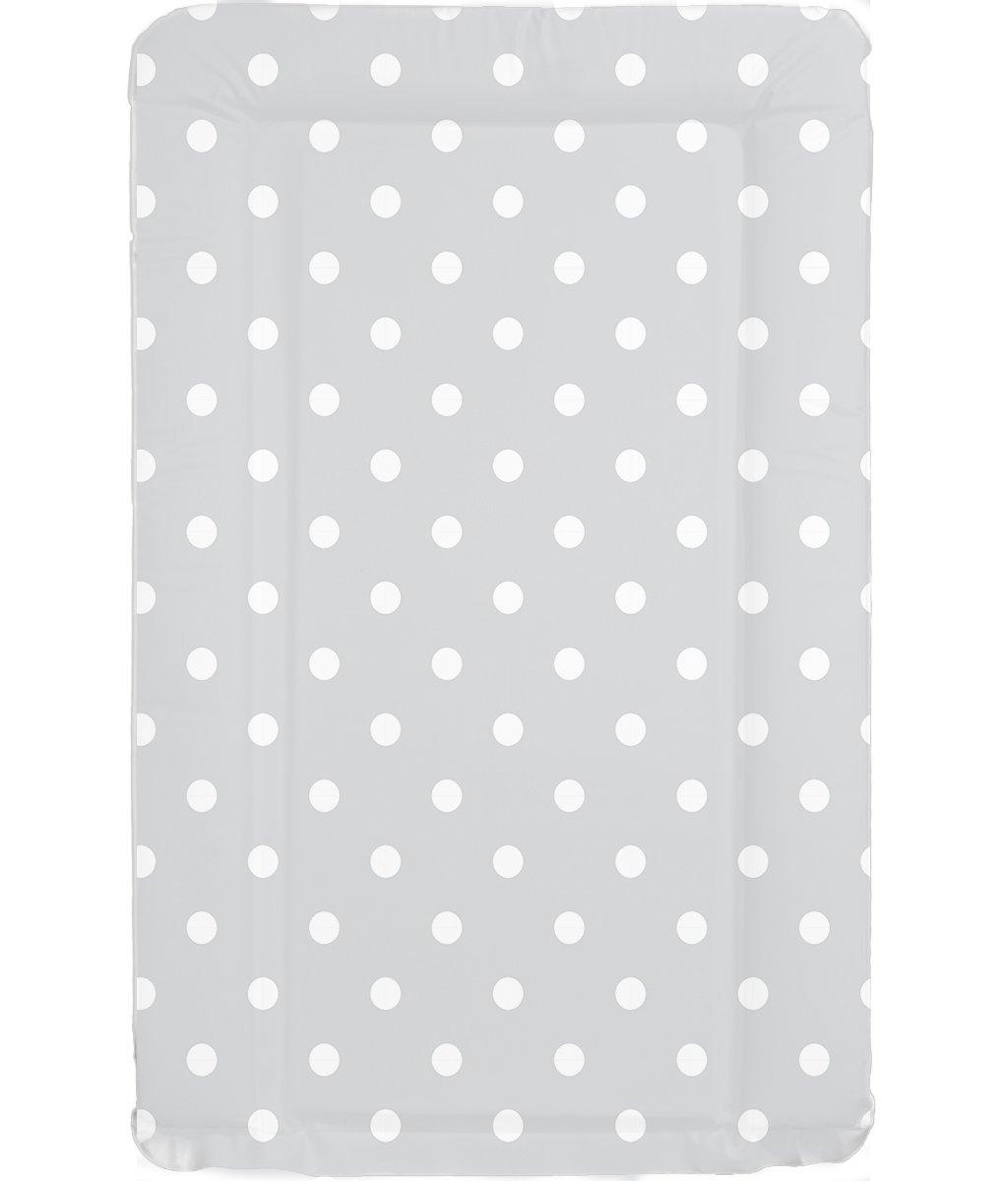 Deluxe unisex Baby–Cambiador con bordes. Impermeable único diseño de lunares, color gris y blanco babieswithlove