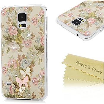 samsung galaxy s5 3d cases. s5 case, galaxy case - mavis\u0027s diary 3d handmade bling crystal cute butterfly sparkle samsung 3d cases s