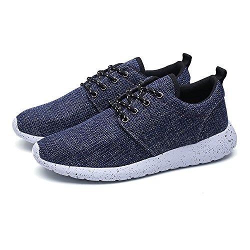 shoes Up unita casual moda tinta Sneaker 40 atletica Frabic Blu Xiaojuan maschile Color Cachi EU tacco scarpe Lace piatto Dimensione pYAqwdx8