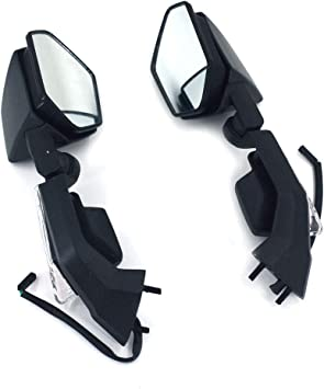 Kawasaki ZX6R 2003-2004 Replacement Mirror Pair Left /& Right Hand Black ZX6-R ZX