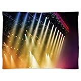 iPrint Super Soft Throw Blanket Custom Design Cozy Fleece Blanket,Musical Theatre Home Decor,Colorful Rays Concert Dance Music Staging Technology Smoky Night,Multicolor,Perfect for Couch Sofa or Bed