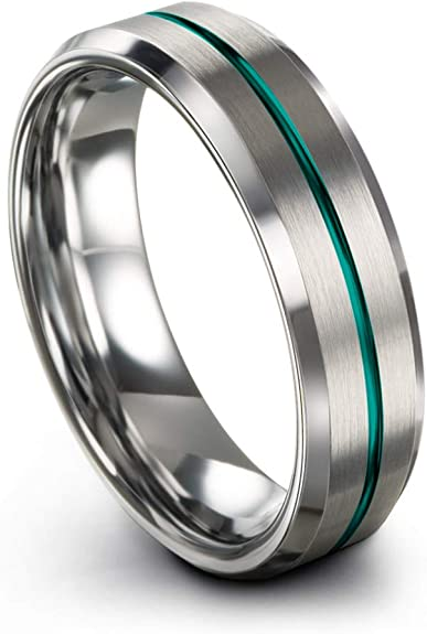 Chroma Color Collection Tungsten Carbide Wedding Band Ring 6mm For
