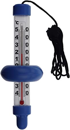 """7/"""" Floating Thermometer 34/"""" Rope for Outdoor Fish Pond Swimming Pool Spa Hot Tub"""