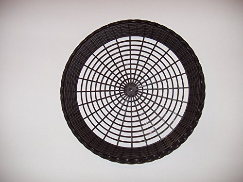 4 New Black Plastic Paper Plate Holders  Picnics  Bbq  Washable  Heavy Duty
