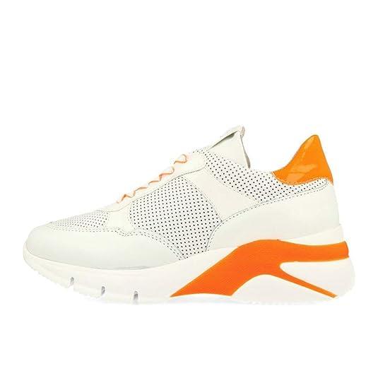 Tamaris 23793 32 Sneaker White Neon Orange White Size: 5 UK