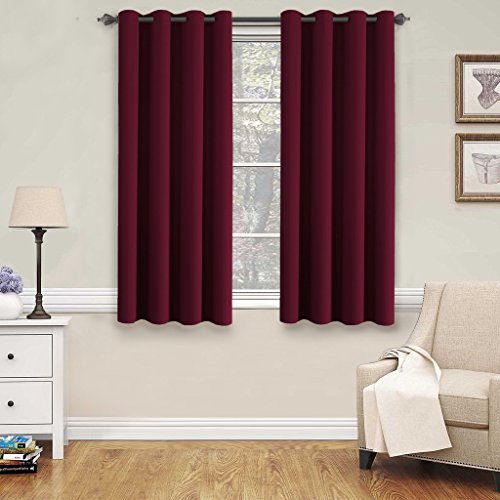 From USA H.Versailtex Insulated Thermal Blackout 72Inch Long Grey Curtain Panels Pair Nickel