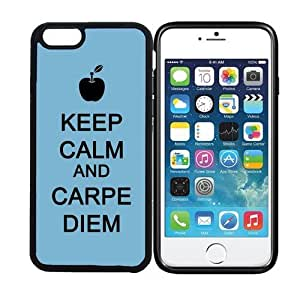 iPhone 6 (4.7 inch display) RCGrafix Keep Calm And Carpe Diem 1 - Designer BLACK Case - Fits Apple iPhone 6- Protected Cell Phone Cover PLUS Bonus Iphone Apps Business Productivity Review Guide