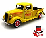 Diecast Car & Mechanic Set Package - 1937 Ford Pickup Truck, Yellow - Motorcity Classics 433213 - 1:24 Scale Diecast Model Toy Car w/Mechanic Set