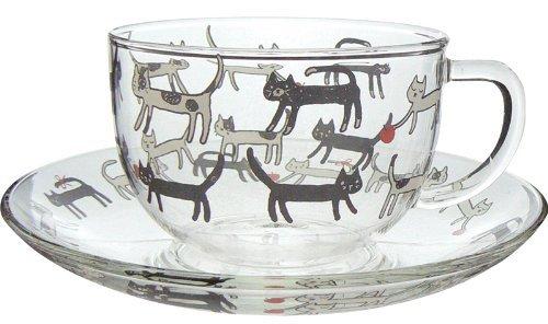 Koji Company Cat Lunlun Heat resistant cup & saucer 540082 from Japan - Japan Saucer