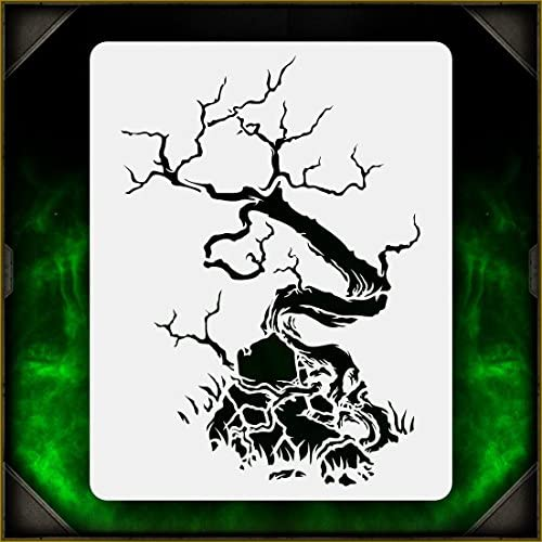 Creepy Tree 3 AirSick Airbrush Stencil Template