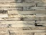 macLEDs PLANK-20SF-whitewash Hardwood Wall Planks 20 Sq.'. Distressed Whitewashed Wood Wall Planks