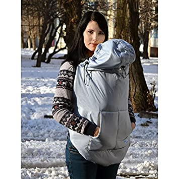 3e4a75f08cffe Amazon.com : Winter Maternity Coat Extender Grey, Babywearing Coat  Extender, Baby Carrier Cover, Toddler Carrier Cover, Babywearing : Baby