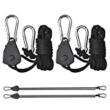 2x 150lb Rope Yoyo Hangers for Grow Tent - Best Reviews Guide