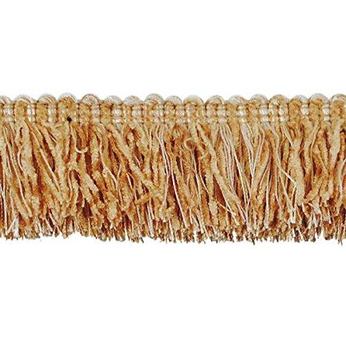 Expo International Chenille Fiber Brush Fringe Trim Embellishment, 20-Yard, Beige/Gold by Expo International