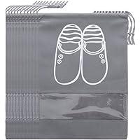 Travel Shoe Storage Bags Dustproof Shoe Bags Drawstring with Window(10PCS)