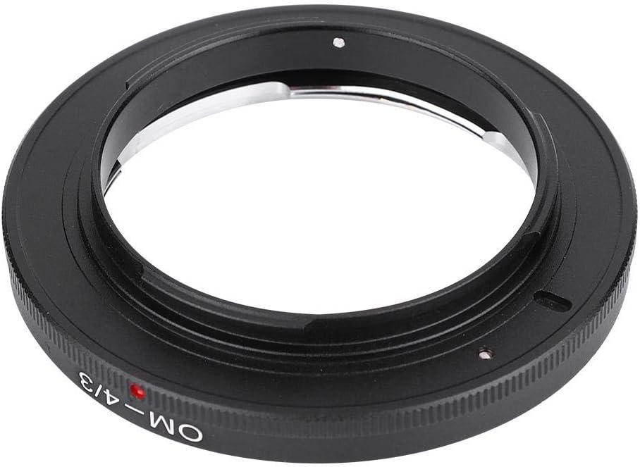 Camera Lens Mount Adapter Ring for Olympus OM Lens to for 4//3 Mount Camera E510 E500 E400 OM-4//3 Metal Lens Mount Adapter